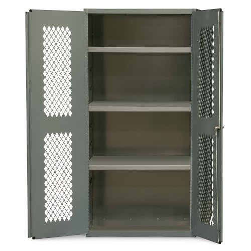 Durham Heavy Duty Welded 14 Gauge Steel Ventilated Cabinet, EMDC-361860-95, 900 lbs Capacity, 18