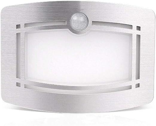 Phoewon - Lámpara de pared a LED, aplique de pared para interior, con detector de movimiento, lámpara de noche para pasillo, escalera, armario, cuarto de baño.: Amazon.es: Iluminación