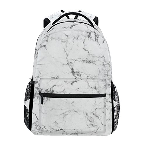 TropicalLife Black and White Marble Art Backpacks School Bookbag Shoulder  Backpack Hiking Travel Daypack Casual Bags c94f6b83c2