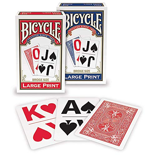 Bicycle 1026098  Large Print Playing Cards (assorted)