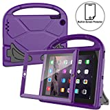 AVAWO Kids Case Built-in Screen Protector for iPad 2 3 4 - Shockproof Handle Stand Kids Friendly Compatible with iPad 2nd 3rd 4th Generation (Purple)
