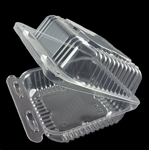 Plastic Clear Hinged Containers 5-1/4