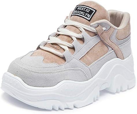 Topcloud - Zapatillas de Running para Mujer, Beige (Beige), 36 EU: Amazon.es: Zapatos y complementos