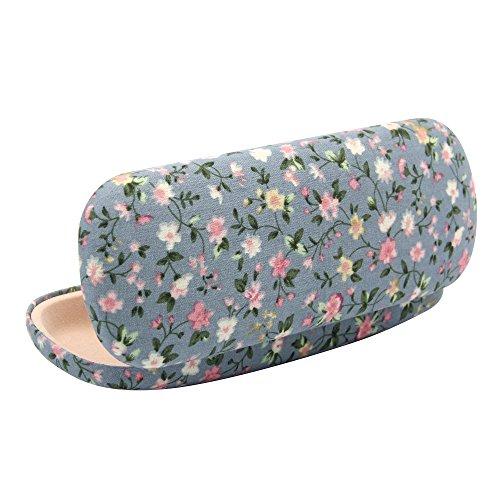 Portable Hard Floral Print Fabrics Eyeglasses Sunglasses Protector Holder Box Case Cover Anti-shock with Soft Lining - Sunglasses Shock