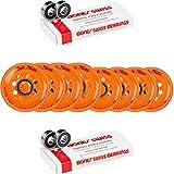 Labeda Wheels 80mm /76mm HILO Set ADDICTION ORANGE Inline Hockey Bones Swiss