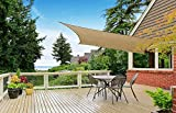 Cindynamo 12' x 16' Sand Color Sun Shade Sail Canopy Rectangular Sand 185 GSM Shade Sails 95% Harmful UV Block Outdoor, Patio, BBQ Backyards Activities, Unique Heavy Duty Knitted Construction Offer