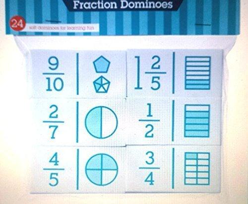 Didax Recursos educativos 24Piezas Hands-On Math fracción Dominó
