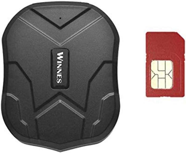 GPS Tracker, 5000 mAh, Tarjeta SIM Gratuita, antipérdida, localizador GPS con Alarma Geo-Fence GPS Tracker posición, aplicación Gratuita para Coche/vehículo/camión/Moto Tres Meses Standby