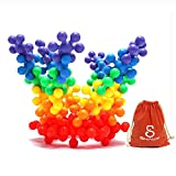 SHAWE Kids Toy, More than 90 Pieces Mighty Molecules Big Size,Interlocking Solid PE Plastic Building Sets,Educational Games,Sensory Fidget Toys,Safe Material for Kids,Package with Reusable Bag