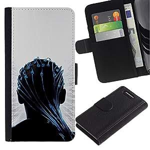 JackGot ( Transendece ) Sony Xperia Z3 Compact / Z3 Mini (Not Z3) la tarjeta de Crédito Slots PU Funda de cuero Monedero caso cubierta de piel