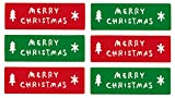 LSW Set of 120 Merry Christmas Rectangle Holiday