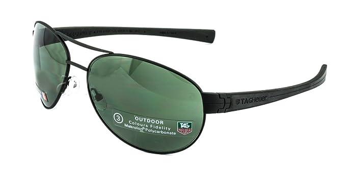 Amazon.com: Tag Heuer LRS 0253 Gafas de sol 301 negro/negro ...