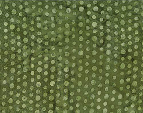 Rayon Batik Olive Green Allover Dot Tone on Tone Polka Dots 44