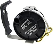 Scuba Choice Diving Stainless Steel Heavy Duty Multi-Purpose Dive Reel, 290-Feet, Black
