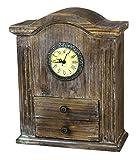 Vintiquewise TM Vintage Wooden Desk Clock