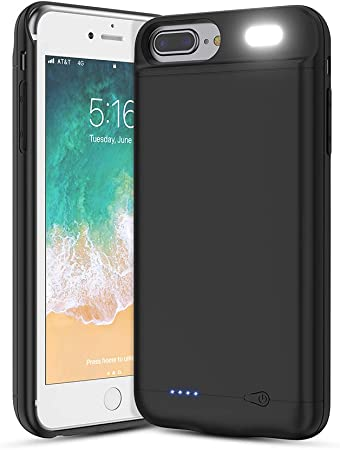 Vancely Cover Batteria per 6S Plus/iPhone 6 Plus/7 Plus/8 Plus, 7000mAh Cover Ricaricabile Custodia Batteria Cover Caricabatteria Battery Case per 6S ...