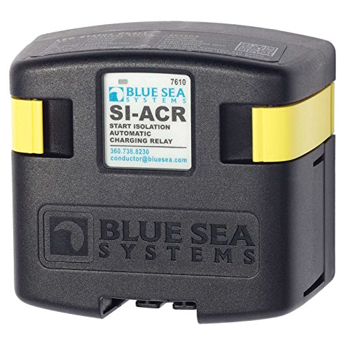 Blue Sea 7610 120 Amp SI-Series Automatic Charging Relay (Studs Sea Blue)