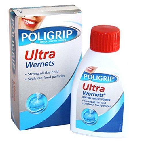 Poligrip Ultra Wernets , Denture Fixative Powder 40g by W...