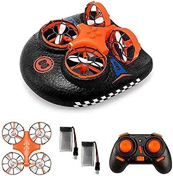 Opinión sobre EACHINE E016F, Hovercraft Drone, Mini Drone para Niños, 2.4GHZ Modo sin Cabeza, Deformable Anfibio (2 Baterías)