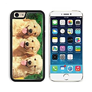Golden Retriever Puppies Dogs Pets Animals Apple iPhone 6 TPU Snap Cover Premium Aluminium Design Back Plate Case Customized Made to Order Support Ready Liil iPhone_6 Professional Case Touch Accessories Graphic Covers Designed Model Sleeve HD Template Wallpaper Photo Jacket Wifi Luxury Protector Wireless Cellphone Cell Phone