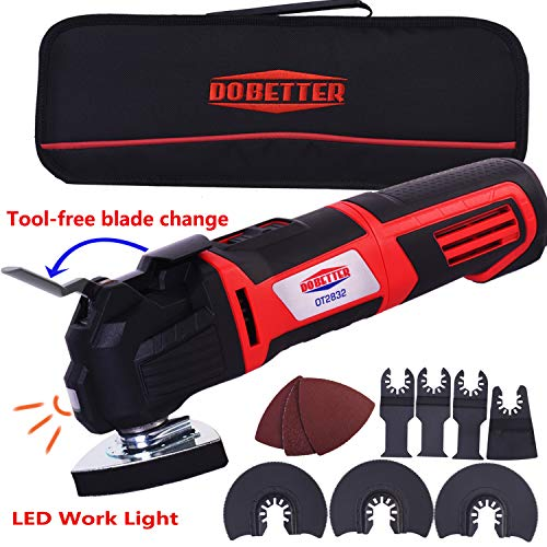 Dobetter Multi-purpose Oscillating Tool ,2.8-Amp 6 Variable Speed Oscillating Saw with Multi-Tool Saw Blades Set and Carry Bag -OT2832 (Oscillating Tool)