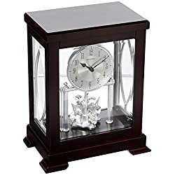Bulova B1534 Empire Mantel Clock, Espresso Brown