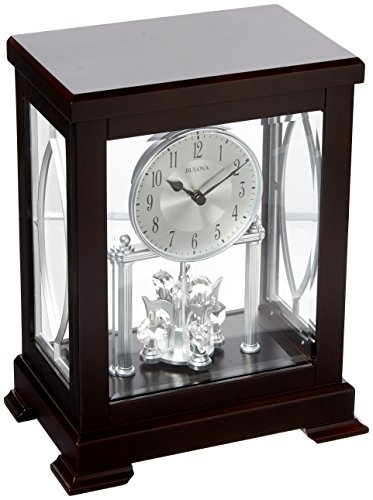 - Bulova Empire Anniversary Mantel Clock, Brown