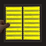SmartSign NFPA Approved Retro Reflective Helmet Strips | 1' x 4', Pack of 16