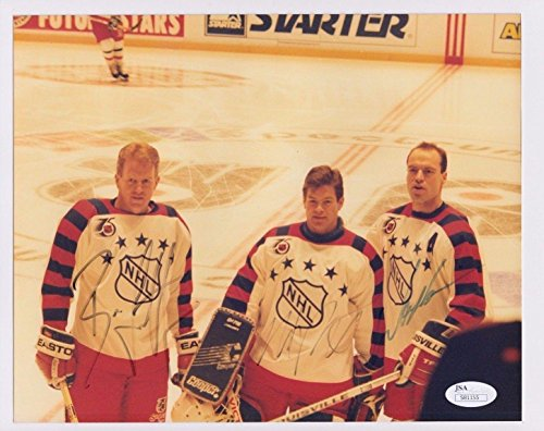 Brian Leetch Mike Richter Mark Messier Auto Signed 1992 A/s Game 8x10 Photo - JSA Certified - Autographed NHL (Mark Messier Autographed Photo)