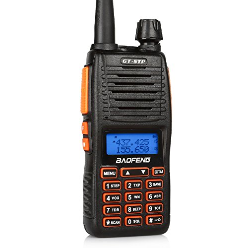 BaoFeng Pofung GT-5TP 8/4/1 Watt Tri-Power Dual Band Two-Way Radio Walkie Talkie with Dual PTT & 2000mAh Battery & Earpiece Headset