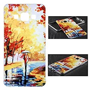 YULIN Metal Frame Full Embossment Maple Pattern Hard Hard Case for Samsung Galaxy A5 (Assorted Colors)