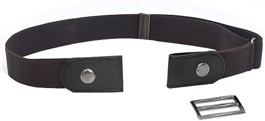 Women Men Waistband Buckle Elastic Free Belt Waist Strap Stretch Jean Invisible