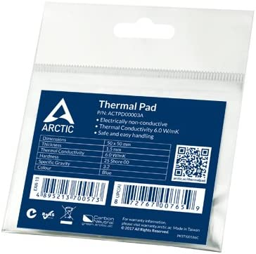 Easy to Apply ARCTIC Thermal Pad Basic High Performance Gap Filler Pack of 4 Non-Stick and can be easily removed and repositioned Pink 100 x 100 mm, t: 1.0 mm Safe Handling Material: APT2012