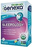 Genexa Sleepology for Children: Certified Organic Sleep Aid, Melatonin-Free, Physician Formulated, Safe, Natural, Non-GMO Verified, Certified Vegan, Homeopathic Sleep Supplement (60 Chewable Tablets)