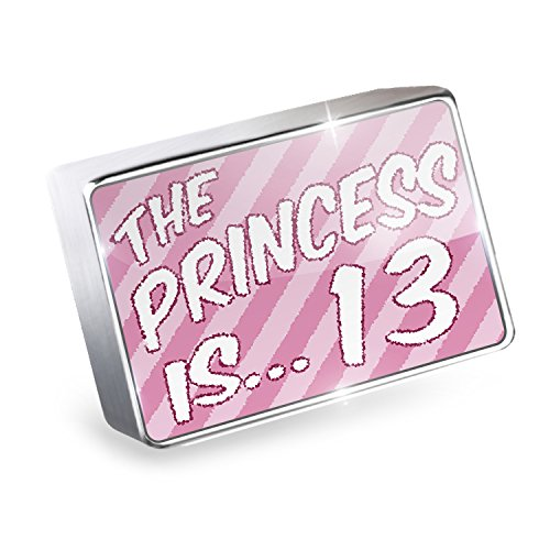 Floating Charm Princess is 13, Birthday in pink Fits Glass Lockets, Neonblond by NEONBLOND