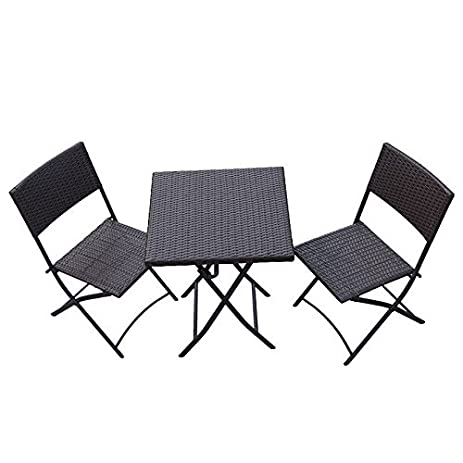 Amazon.com: Oakville Furniture Parma Style Rattan Patio Bistro Set ...