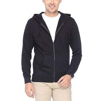 Campus Sutra Men's Cotton Jacket Men's Sweatshirts & Hoodies at amazon
