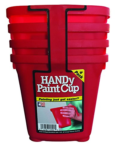 HANDy 1504-PK Paint Cup (4 Pack), Red