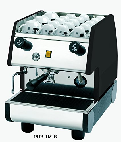 La Pavoni PUB 1M-B 1 Group Commercial Espresso/Cappuccino Machine, Stainless/Black
