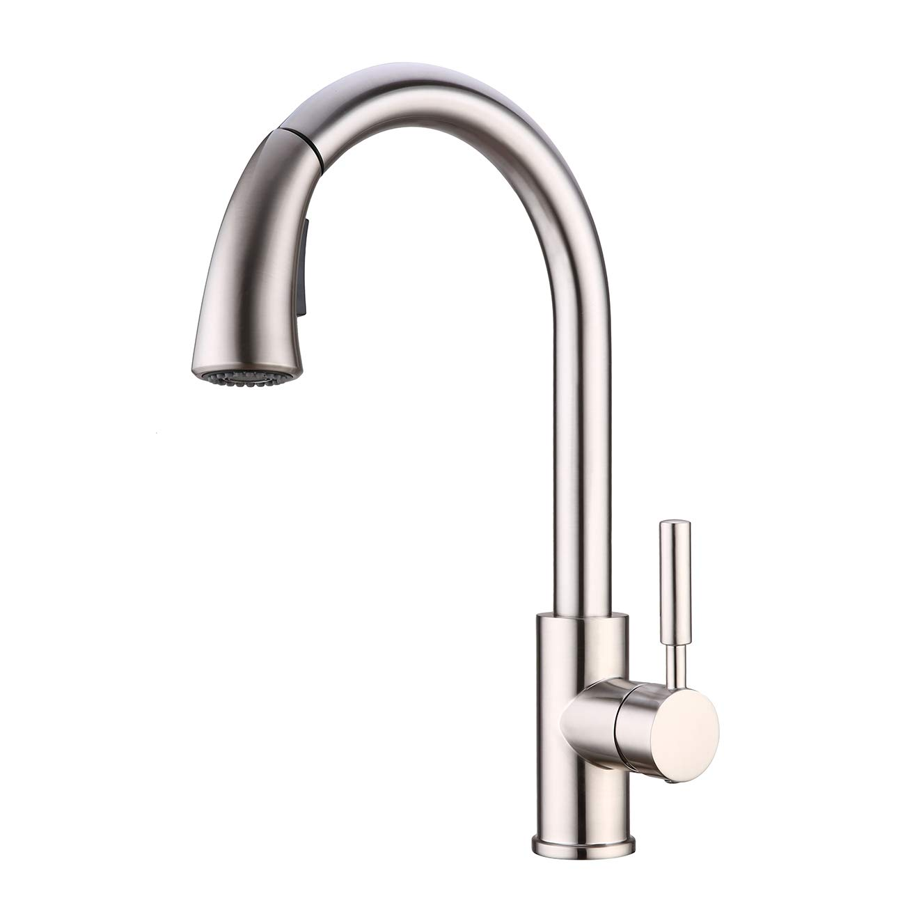 Kitchen Faucet with Pull Out Sprayer WENKEN Lead Free 360 Swivel High Arc Pull Down Pre-rinse Kitchen Sink Faucets Brushed Nickel