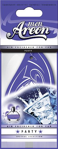 Areon MON Modern Classic Design Hanging Car Air Freshener, Party Scent (Pack of 3)