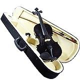 Violin de 4/4 de madera color negro con Estuche