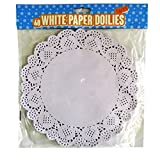 Large White Paper Lace Doilies - Pack of 60 - 9.5' Diameter
