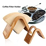 Coffee Filter Holder, Bamboo Wood Coffee Filter Storage Coffee Filters Dispenser Holder Display Shelf Filtering Paper Storage Rack Stand For Home, Office, Cafe