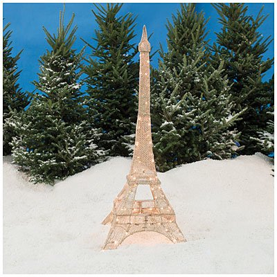 glittering champagne gold eiffel tower 5 lawn christmas decoration