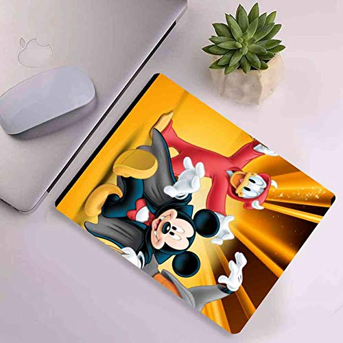 DISNEY COLLECTION Donald Duck Mickey Mouse Goofy Square Round Computer Gaming Mouse Pad Cute Cartoon Rub Light for Office, Home Cute -