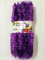 Purple Foil Tinsel Christmas Garland 708 (59 Feet)
