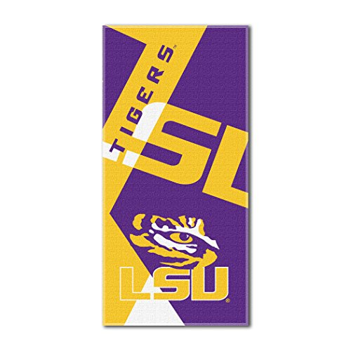 The Northwest Company Officially Licensed NCAA LSU Tigers Puzzle Beach Towel, 34