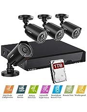 FLOUREON Système de Surveillance 1080P +XPOE Caméra de Sécurité