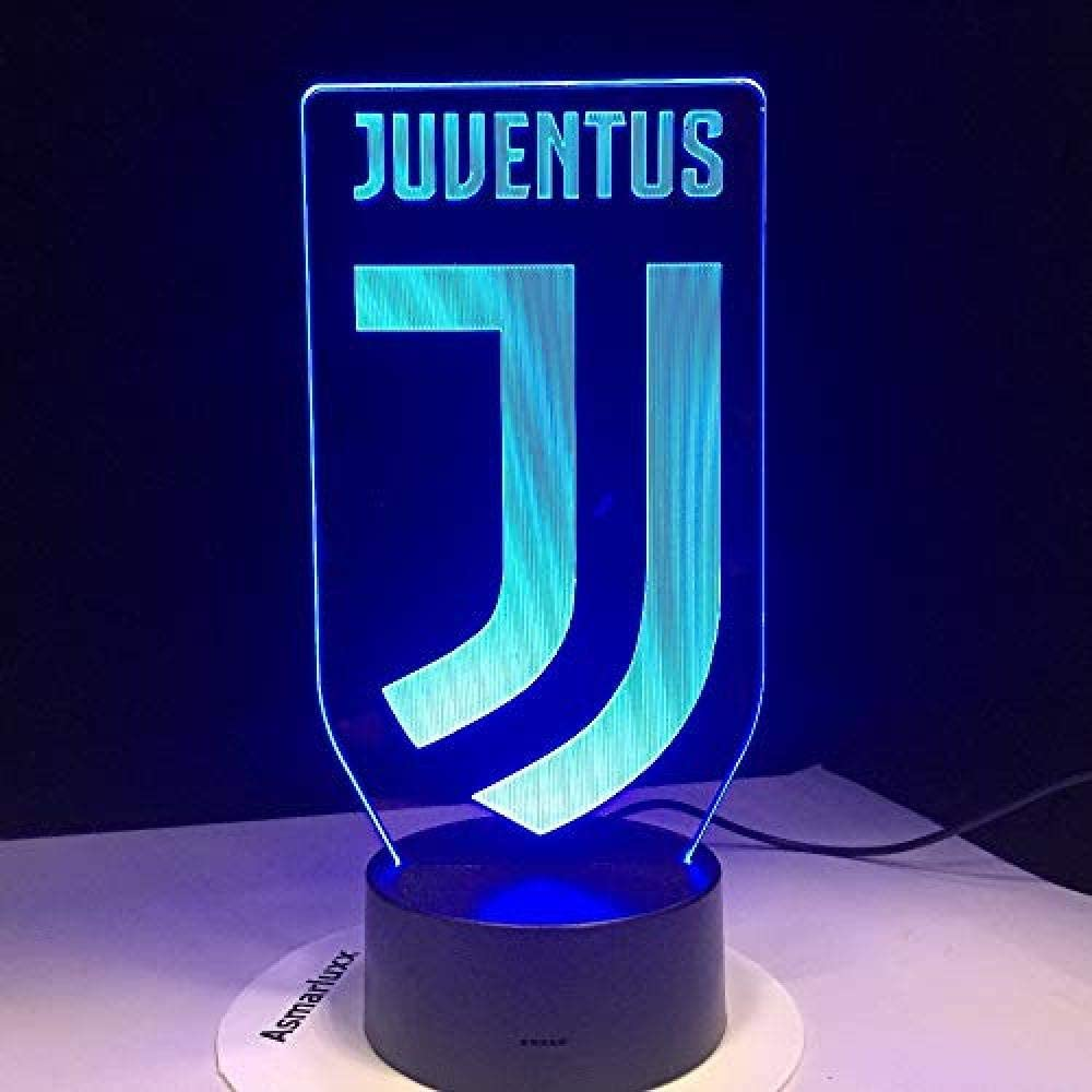 Amazon Com 3d Soccer Lamp Football For Juventus Club Logo 7 Colorful Led Night Light Best Gifts For Kids Dad Friends Birthday Gift Home Kitchen